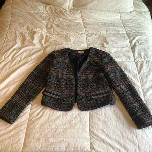 Ann Taylor Tweed Cropped Jacket